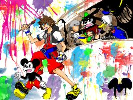 Epic KH Wallpaper by GloomyBunny