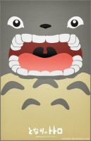 Totoro Poster - I'MMA EAT CHU by Nortiker