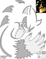 Werehog Jack-O-Lantern stencil by Rally-the-Cheetah