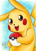 Sketch Card - 02 Pikachu by Karmada