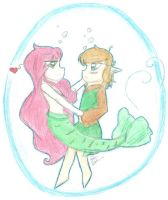 Art Trade - Underwater Love by Ppeacht