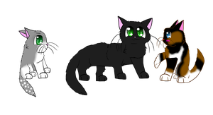 .: Rosepaw Darkenpaw Cloudpaw :. by Dawn7252000
