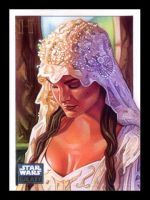 Padme in wedding gown by roberthendrickson
