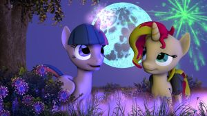 [SFM]Twilight And Sunset Shimmer by TombstoneKnight