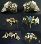 Zelda Twilight Princess Brass Accessories