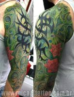 Tatuagem Green Organic Tattoo by micaeltattoo