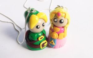 Link and Zelda by WTFcharms