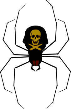 Spider Skull and Cross Bullets by SeeMyPixels