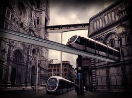 A tram ride through Florence by Vashar23