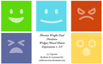 Widget + Mood Matrix Expressions Icon Set by craftysorceress