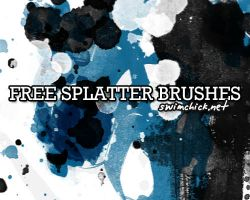 FREE INK SPLATTER BRUSHES by zerofiction
