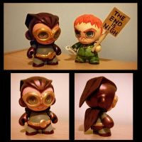 The semi-dark Knight munny by Luthie13