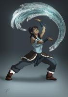 Korra Waterbending by jadenwithwings