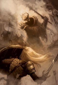 Eowyn vs Nazgul by oliverojm