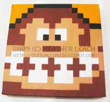 Donkey Kong close-up by 8bitgallery