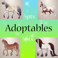 Horse Adoptables [5pts Each] by EnchantedEquine