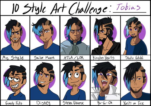 10 Art Style Challenge - Tobias by Big-Wolf-Pup