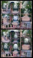 Divine Garden Backgrounds by moonchild-ljilja