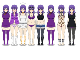 Cia's Outfits for Comic and Comic Apps by Azumi-the-Neko