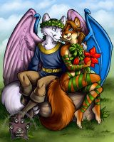 Foxes Commission by lady-cybercat