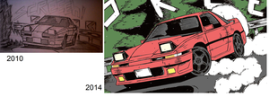 Improvement Car Drawing by topgae86turbo