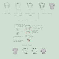 Folds practice: Loose T-shirt by zapatones