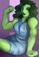 Miss Jennifer Walters aka She Hulk by clueless-nu