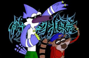 mordecai and rigby must like rap by richpuma
