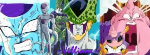 Dragonball Z Villians Facebook Cover by Tapions-Flute