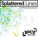 Splatter Line PS Brushes by KeepWaiting
