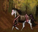 Leaping through the Leaves by SilverBrooke-Stables