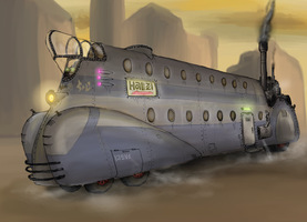 Steam powered bus by Waffle0708