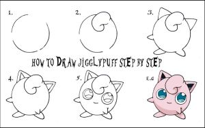 How To Draw Jigglypuff step by step by DarylHobsonArtwork