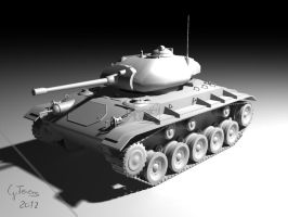 m24 tank by FeriAnimations