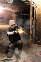 Albert Wesker - Fighting in the Basement by Saskeks