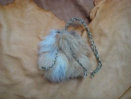 Fox necklace pouch by lupagreenwolf