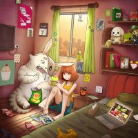 Our Messy Room by Falvoz