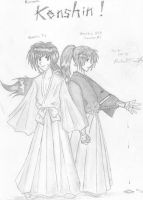 Year 2001: Himura Kenshin by gloomknight