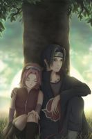 Sakura and Itachi by ceazar-f