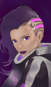 Overwatch:Sombra by GalaxyPlayer17