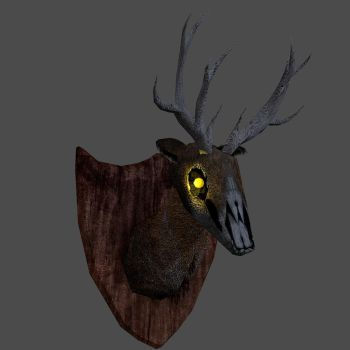 Rotten Deer Head by demondeathx