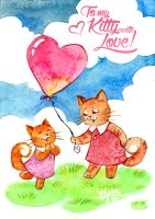 To my Kitty with Love by Elfessa