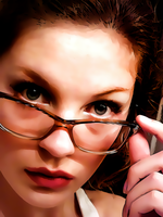 Behind Glasses by donvito62