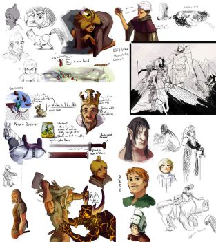 secret project sketches by Lolip