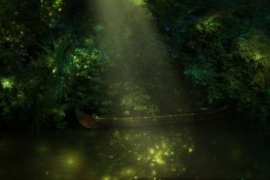 Fairy Boat - Premade Background by la-voisin
