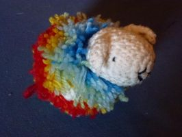 Rainbow Sheep II by crocheter