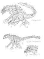 Kaiju Concept Sketches 7 by BehemothMaker