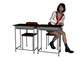 Classroom Desk and Chair Set by amyaimei