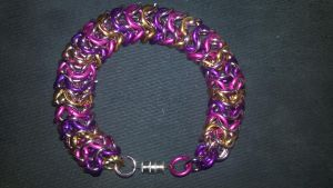 MLP Themed Cadance Chainmail Bracelet-2 by TheGiantsnoll