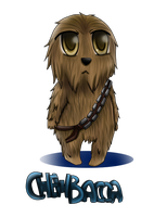 Chibi Chewbacca by cleoly16